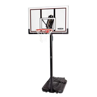 "Lifetime 52"" Steel Framed Shatter Proof Portable Basketball System"