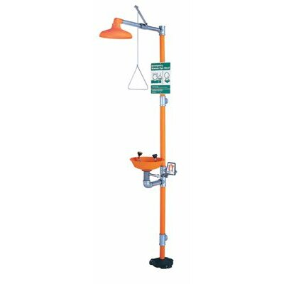 "Guardian Equipment Eye Wash & Shower Stations - eye wash & shower safetystation w12"" orange"