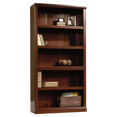 Sauder Storage 5-Shelf Bookcase in Select Cherry