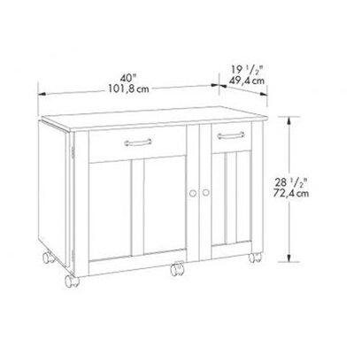 Sauder Storage Sewing/Craft Cart