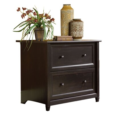 Sauder Edge Water Lateral File Cabinet in Estate Black