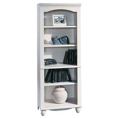 Sauder Harbor View Library in Distressed Antiqued White