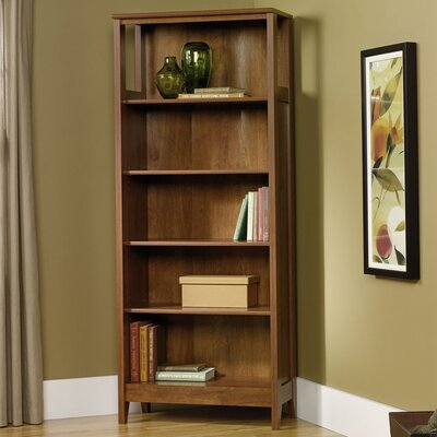 Sauder August Hill Library Bookcase in Oiled Oak