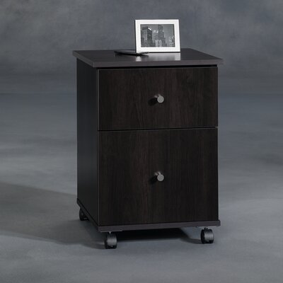 Sauder File Cart in Cinnamon Cherry