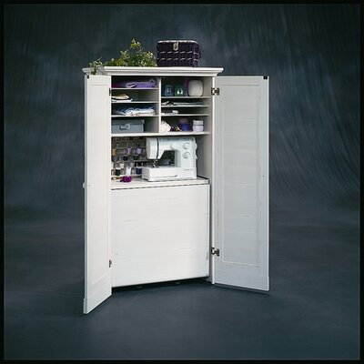 sauder harbor view 35 5 craft armoire storage cabinet
