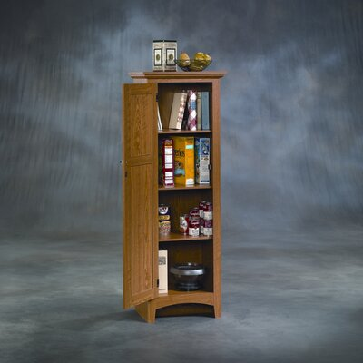 Sauder Summer Home Pantry in Carolina Oak