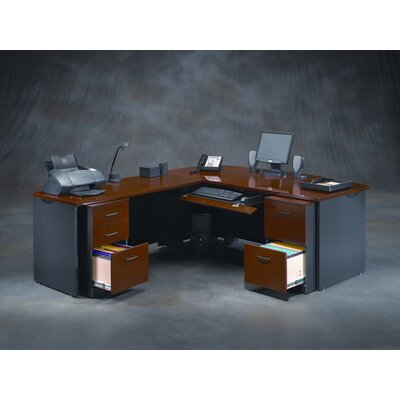 Sauder Via L-Shape Executive Desk Office Suite