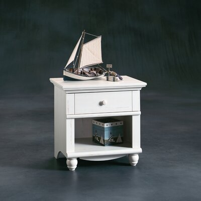 Sauder Harbor View 1 Drawer Nightstand