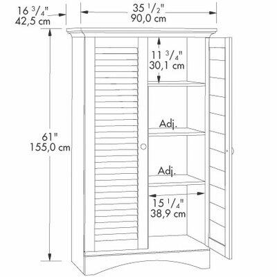 """Sauder Harbor View 35.5"""" Storage Cabinet"""