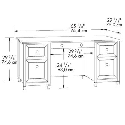 Sauder Edge Water Executive Desk