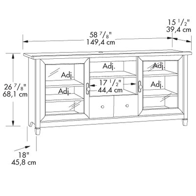 "Sauder Edge Water 59"" TV Stand"