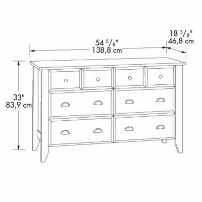 Sauder Shoal Creek 6 Drawer Dresser