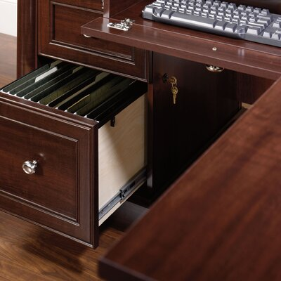 Sauder Palladia Office Desk with Locking Drawer