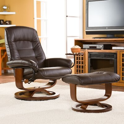 Wildon Home ® Shaw Ergonomic Recliner and Ottoman