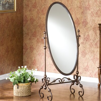 Wildon Home ® Vanderbilt Mirror in Antique Bronze