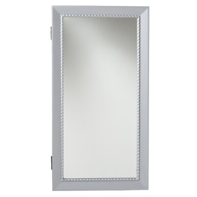 Wildon Home ® Grace Wall Mounted Jewelry Armoire with Mirror
