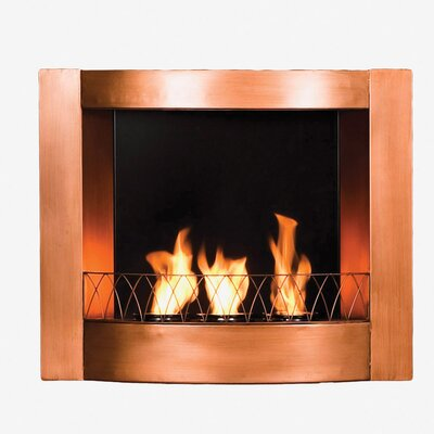 Wildon Home ® Curved Wall Mounted Gel Fuel Fireplace