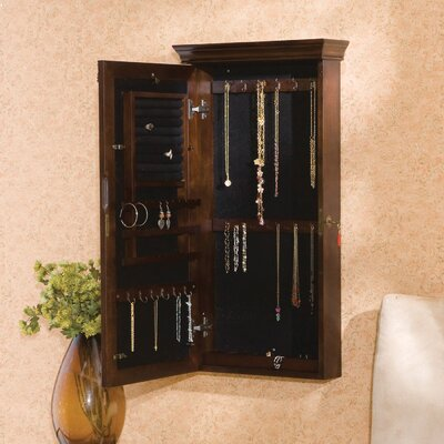 Wildon Home ® Franklin Wall Mount Jewelry Armoire - Espresso