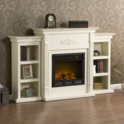 Wildon Home Conway Electric Fireplace With Bookcases amp Reviews Wayfair