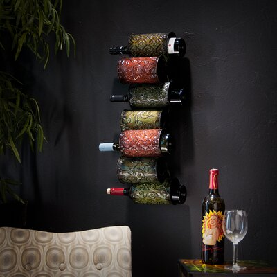 Vigo 7 Bottle Wall Mounted Wine Rack