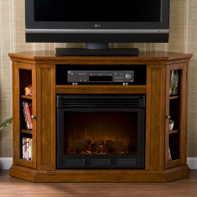"Stuart 48"" TV Stand with Electric Fireplace Furniture 