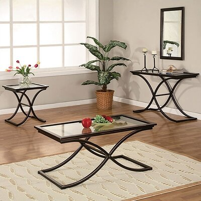 Wildon Home ® Vogue Coffee Table Set with Mirror