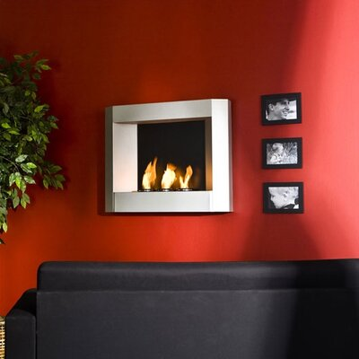 Wildon Home Sleek Wall Mounted Gel Fuel Fireplace