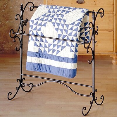 Wildon Home ® Iron Quilt Rack and Coat Rack Set