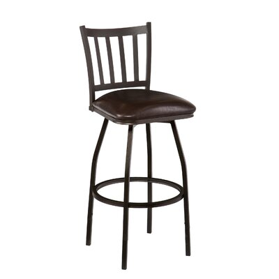 "Wildon Home ® Louisville 24"" Swivel Bar Stool with Cushion"