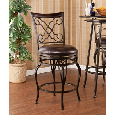"Wildon Home ® Vincent 25.25"" Swivel Bar Stool with Cushion"