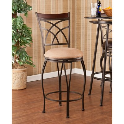 "Wildon Home ® Larsen 25"" Swivel Bar Stool with Cushion"
