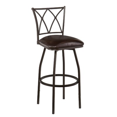 Wildon Home ® Albertson Swivel Bar Stool with Cushion