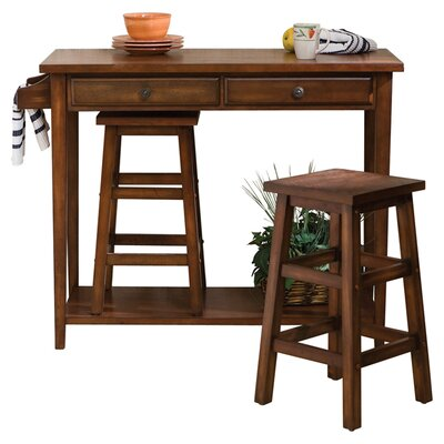Wildon Home ® Nutley 3 Piece Pub Table Set