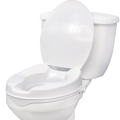 Drive Medical Raised Toilet Seat with Lock and Lid