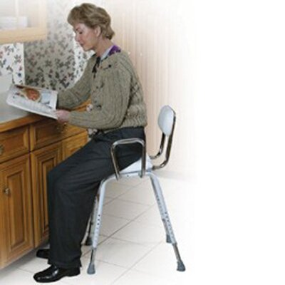 Drive Medical Height Adjustable Low-Back Drafting Chair with Adjustable Arms