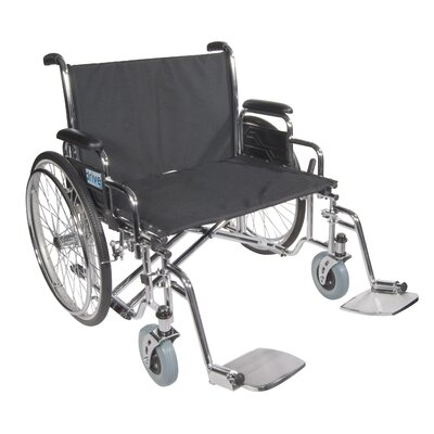Drive Medical Sentra EC Heavy-Duty Wheelchair in Black