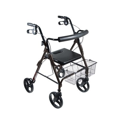 "Drive Medical D-Lite Aluminum Rollator Walker with 8"" Wheels and Loop Brakes"