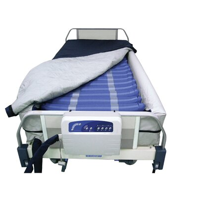 "Drive Medical Med Aire 8"" Defined Perimeter Low Air Loss Mattress Replacement System in Blue"