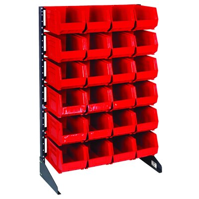 Quantum Storage Single Sided Steel Rail Rack with Bins (Complete Package)