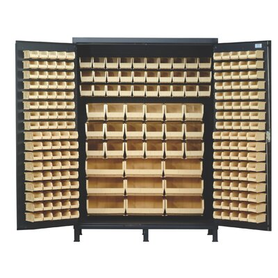 "Quantum Storage 60"" Super Wide Heavy Duty Storage Cabinet with 227 Ultra Bins"