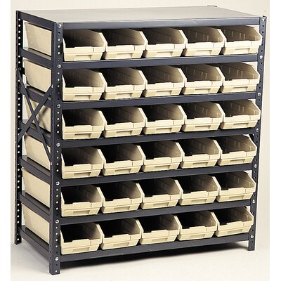 "Quantum Storage Economy Shelf Storage Units (39"" H x 36"" W x 18"" D) with Bins"