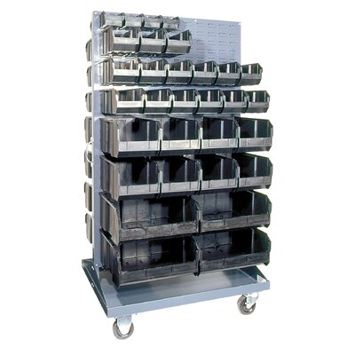 Quantum Storage Conductive Mobile Double Sided Louvered Rack
