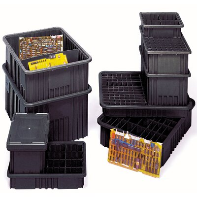 "Quantum Storage Conductive Dividable Grid Storage Containers (3 1/2"" H x 8 1/4"" W x 10 7/8"" D)"