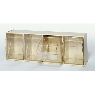 Quantum Storage Clear Tip Out Bins (4 Compartments)
