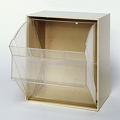 Quantum Storage Clear Tip Out Bins (1 Compartment)