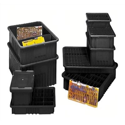 "Quantum Storage Conductive Dividable Grid Storage Containers (8"" H x 17 1/2"" W x 22 1/2"" D)"