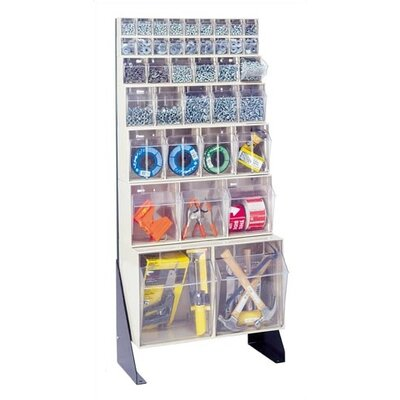 "Quantum Storage 52"" Double Sided Floor Stand Storage Unit with Tip Out Bins"