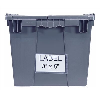 Quantum Storage Attached Top Storage Container Clear Label Holder