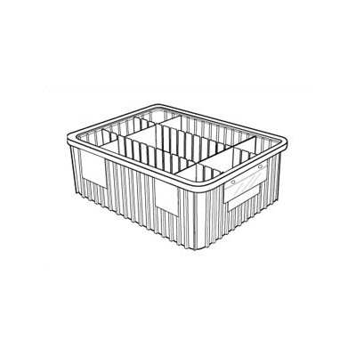 "Quantum Storage Dividable Grid Storage Containers (6"" H x 17 1/2"" W x 22 1/2"" D)"