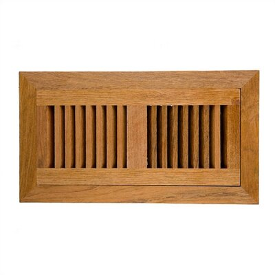 "Image Wood Vents 4"" x 12"" Brazillian Cherry Vent Cover with Damper"